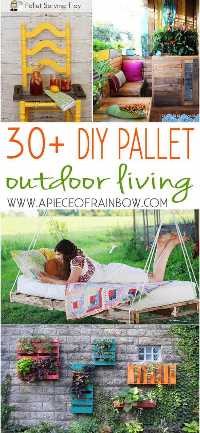 pallet bed, furniture, and decor DIY projects