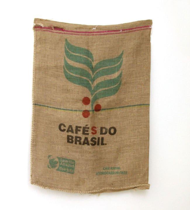Diy Burlap Coffee Bag Ottoman A Piece Of Rainbow