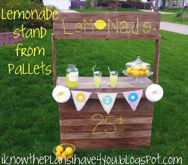 pallet lemonade stand