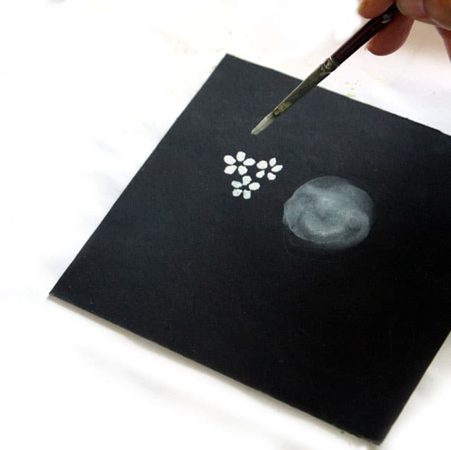 How to Paint Cherry Blossoms on Black Paper - A Piece Of ... Easy Acrylic Flower Paintings On Canvas