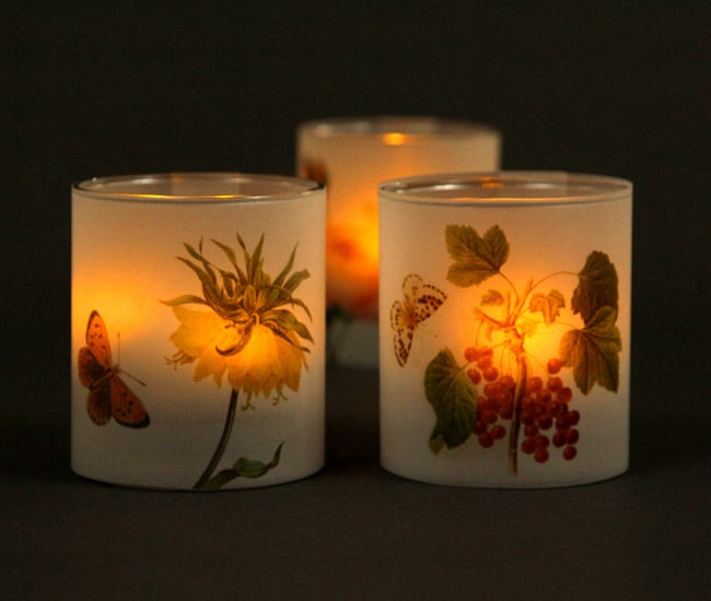 butterfly flower candle holders