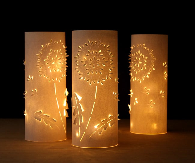 Make Paper Lanterns Inspired by Dandelions A