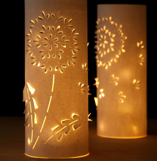 make paper lanterns inspired by dandelions a piece of rainbow