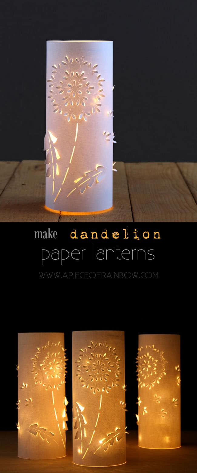 Make Paper Lanterns Inspired by Dandelions- A Piece Of Rainbow