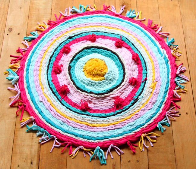 How To Make Beautiful Rag Rug Amp Diy T Shirt Yarns A
