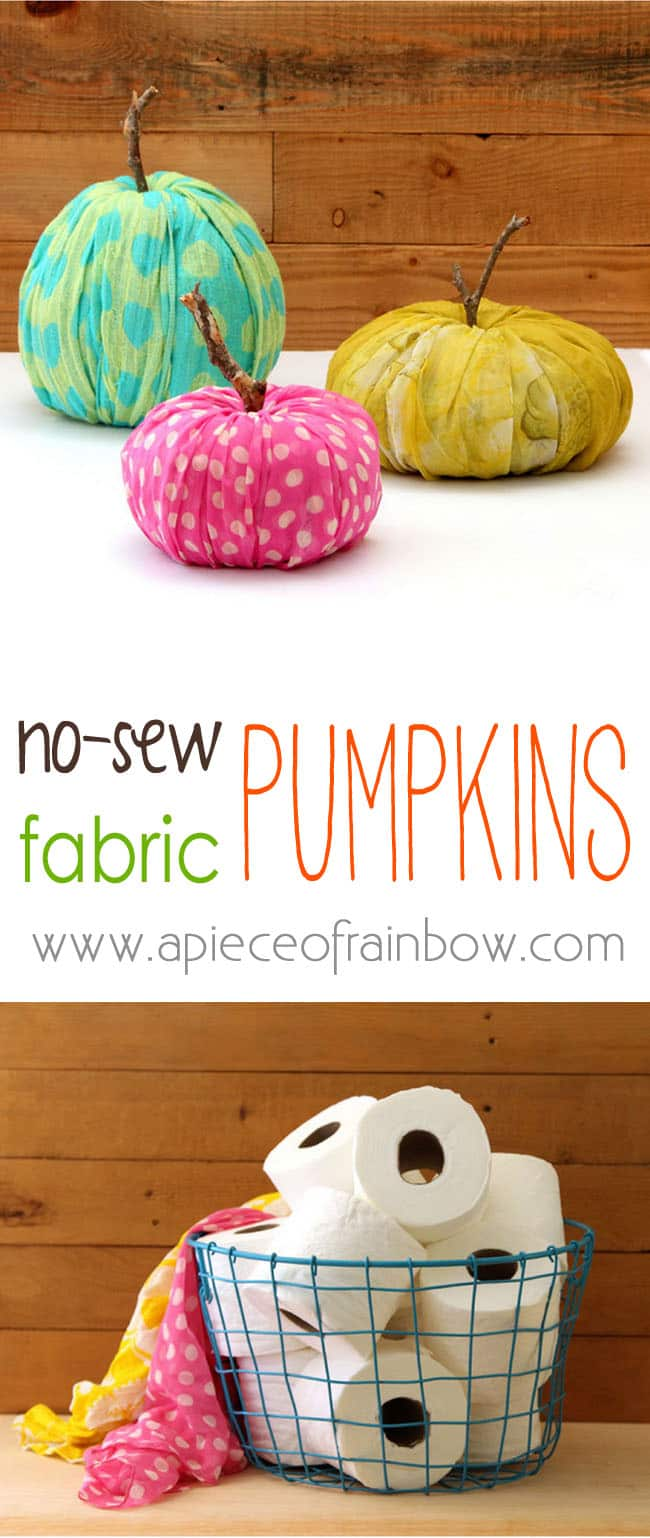 How to make free beautiful toilet paper pumpkin decorations in 3 creative ways! Perfect 2-minute no-storage DIY Thanksgiving & fall decorations! - A Piece of Rainbow #fall #falldecor #autumn #pumpkin #pumpkindecorations #papercrafts #crafts #crafting #craftsforkids #diy #homedecor #homedecorideas #diyhomedecor#halloweendecorations #halloween #thanksgiving #farmhouse #farmhousestyle #farmhousedecor #kidscraft