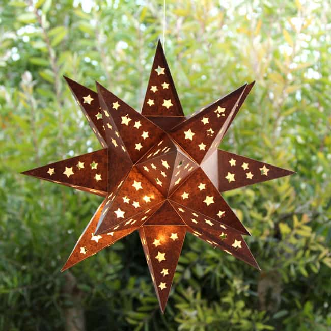 Do It Yourself Home Design: How To Make A Paper Star Lantern ( It Looks Like Metal
