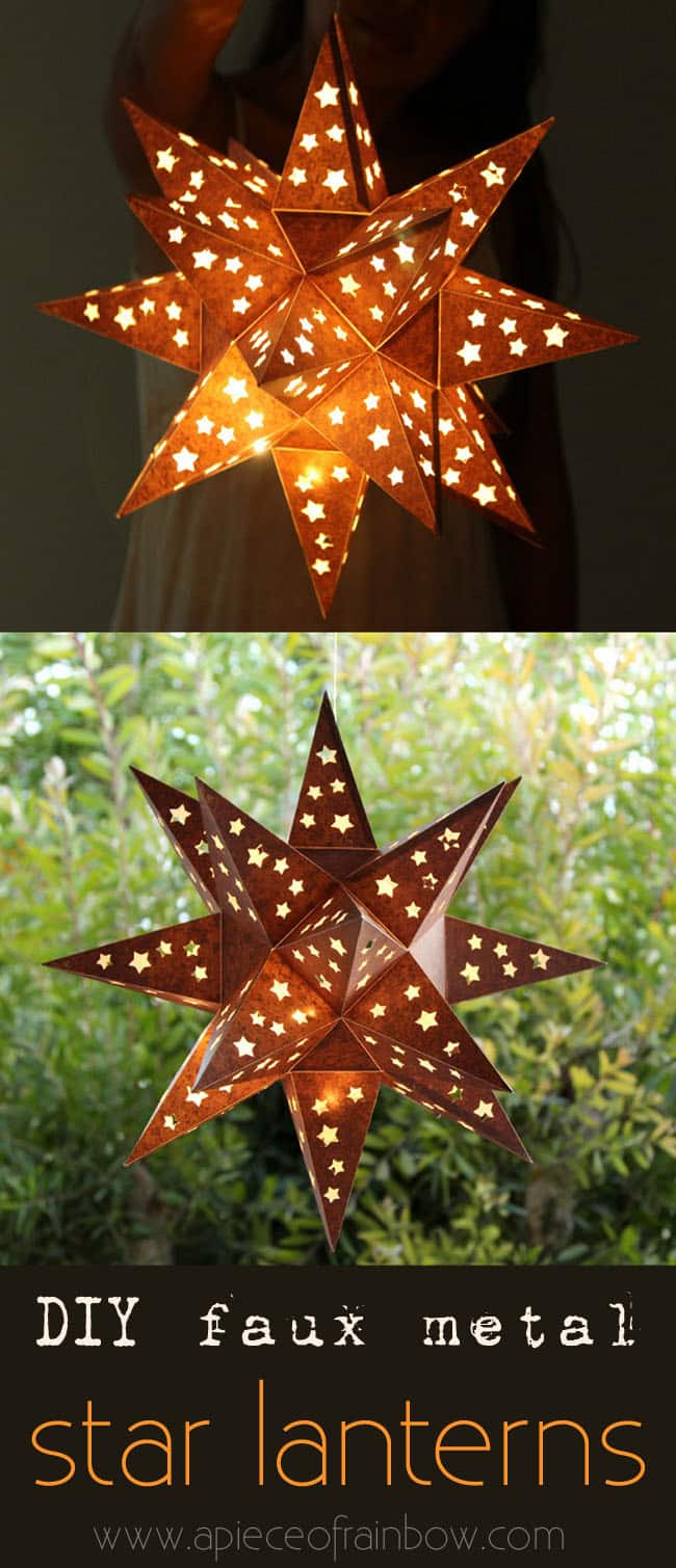 Make Star Lantern Apieceofrainbowblog