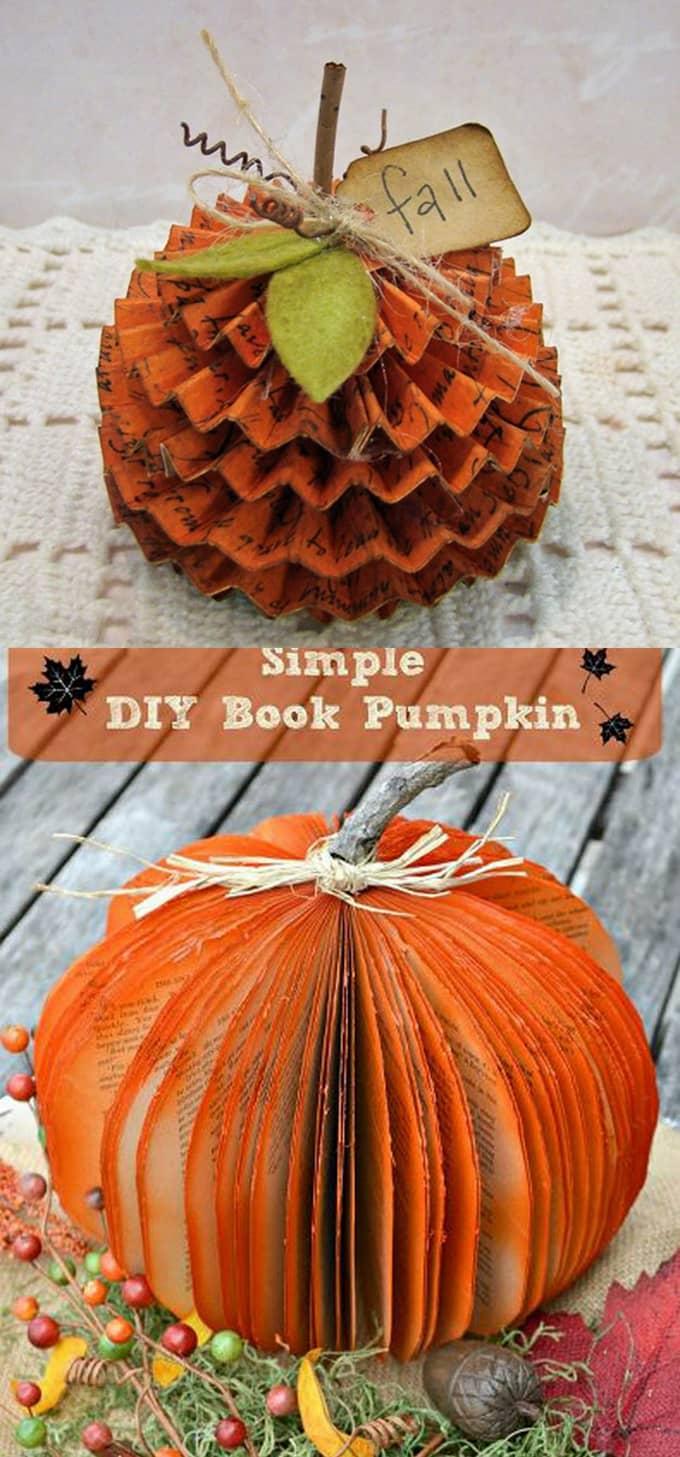 20+ Amazing DIY Pumpkin Decorations - A Piece of Rainbow