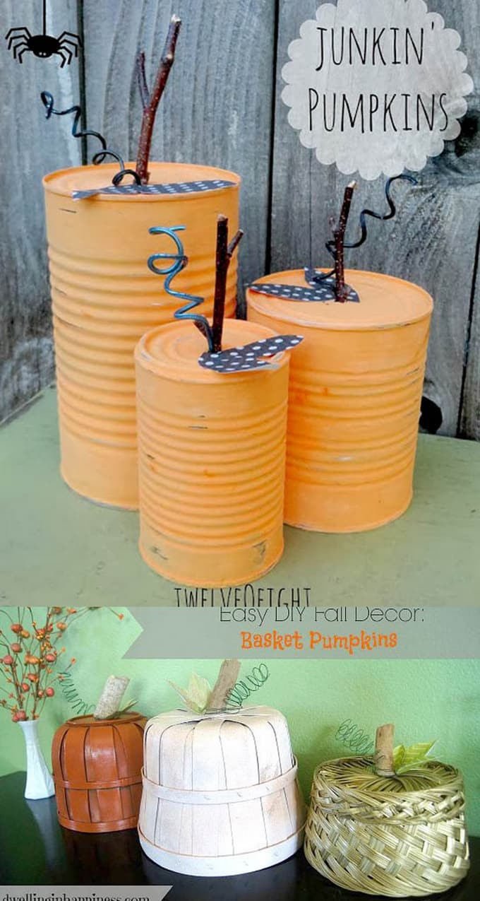 20+ easy & grogeous diy pumpkin decorations {mostly free!}
