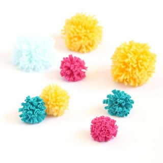 Become pom pom making ninjas! How to make many pom poms super fast all in one batch for your crafting projects!