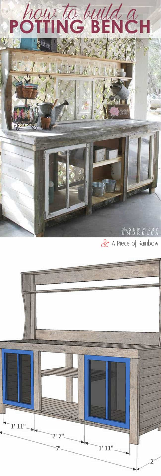 Wondrous Reclaimed Window Potting Bench A Piece Of Rainbow Ibusinesslaw Wood Chair Design Ideas Ibusinesslaworg