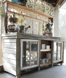 Reclaimed Window Potting Bench
