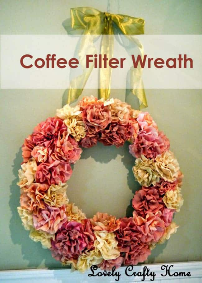 Coffee Filter Wreath Farmhouse
