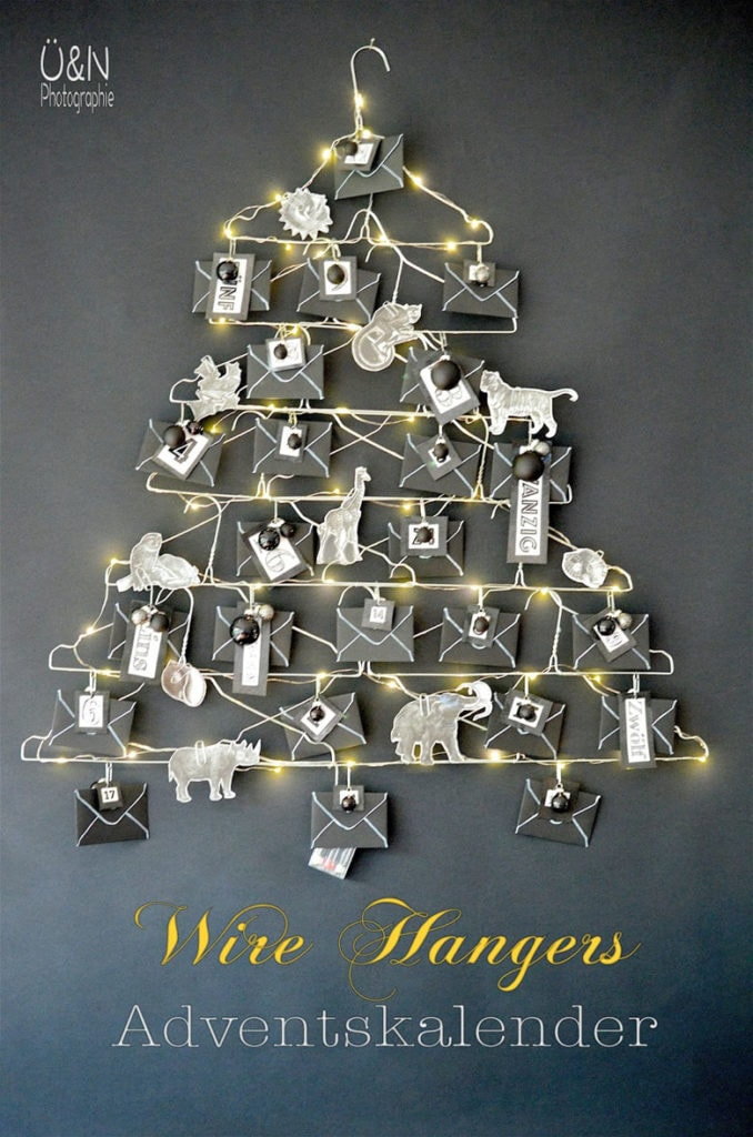 Use dry cleaners hangers to make a Christmas tree