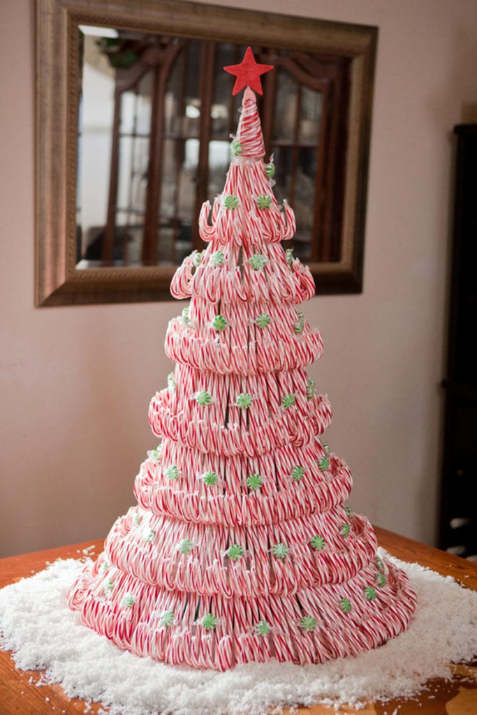 Candy cane DIY Christmas tree