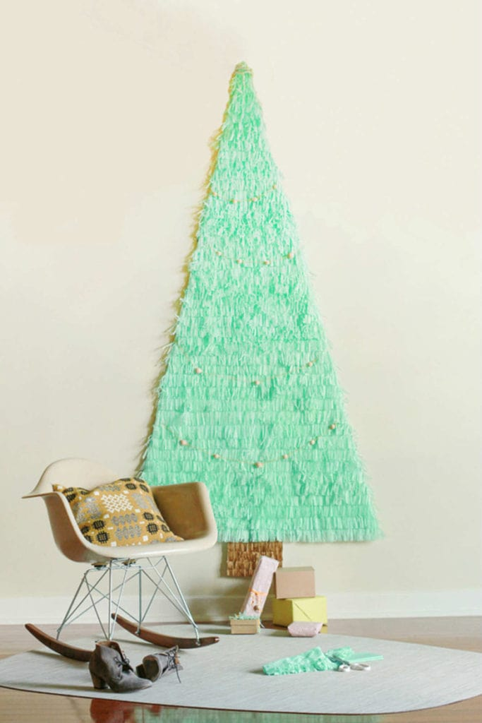 pinata paper Christmas tree