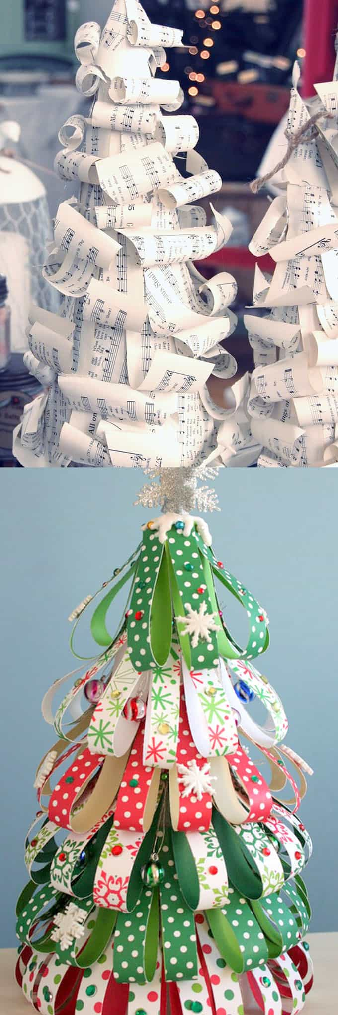 Paper is one of the easiest materials to craft with! Old book pages, sheet music , scrapbook paper, and even old magazines can be transformed into DIY ...