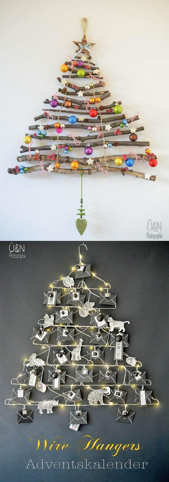 diy christmas tree ideas apieceofrainbow 9 - 48 Amazing Alternative Christmas Tree Ideas