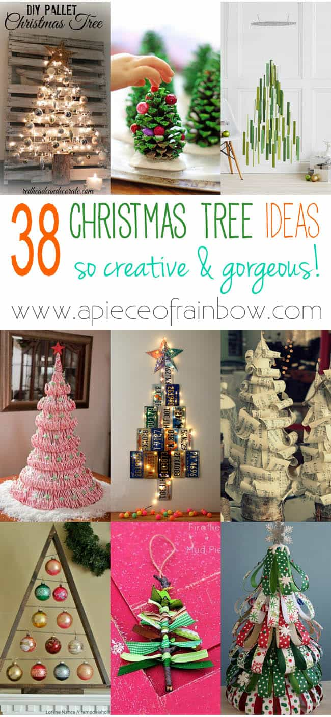 38 amazing christmas tree ideas a piece of rainbow for Five homemade christmas tree topper ideas