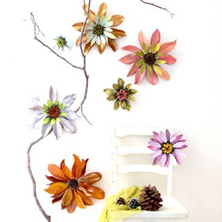Giant Blossoms: Make Flowers from Nature Walk Findings