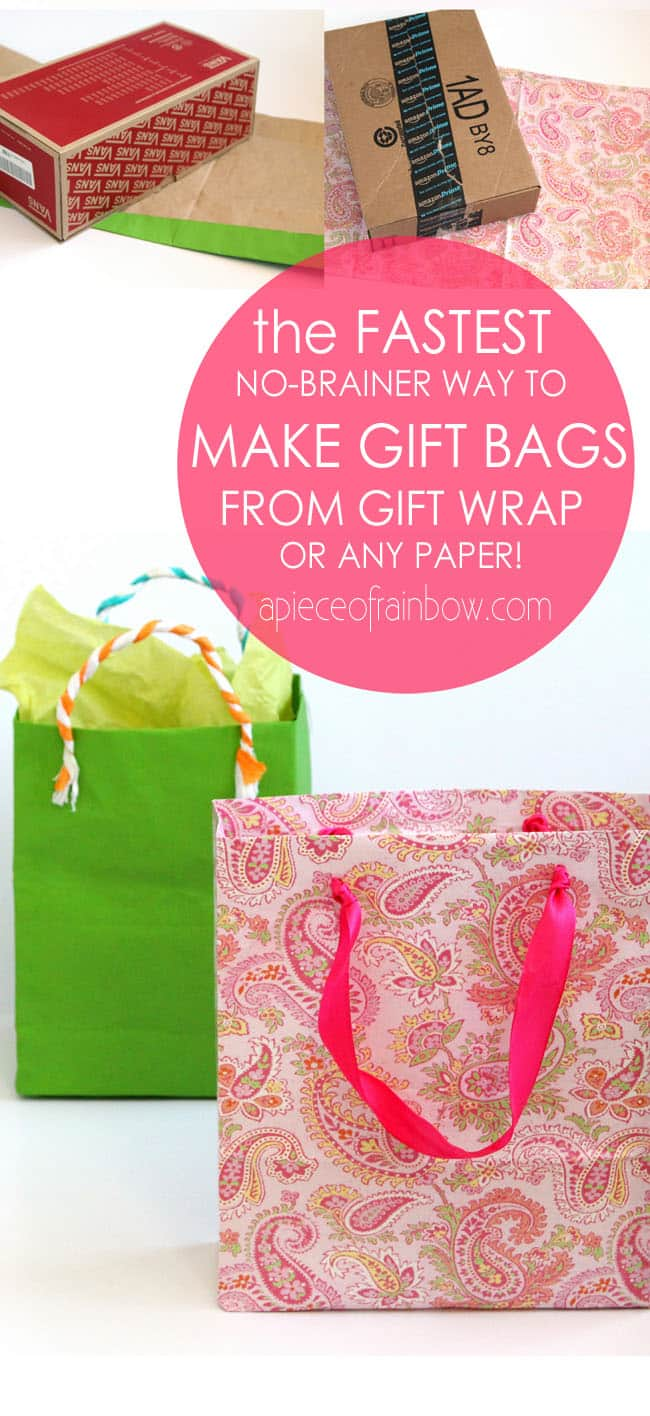 Fastest easiest way to make gift bags from any paper turn gift wrap to gift bags apieceofrainbowblog3 negle Choice Image