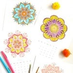 12 gorgeous mandala coloring pages: free Printables plus 5 best tips on how to color beautiful mandalas! Use them as wall decor or turn them into your own hand colored mandalas monthly calendar!