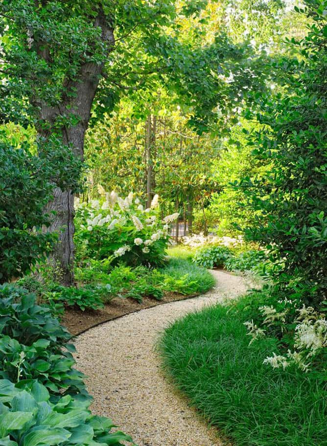 25 most beautiful diy garden path ideas a piece of rainbow - Garden pathway design ideas with some natural stones trails ...