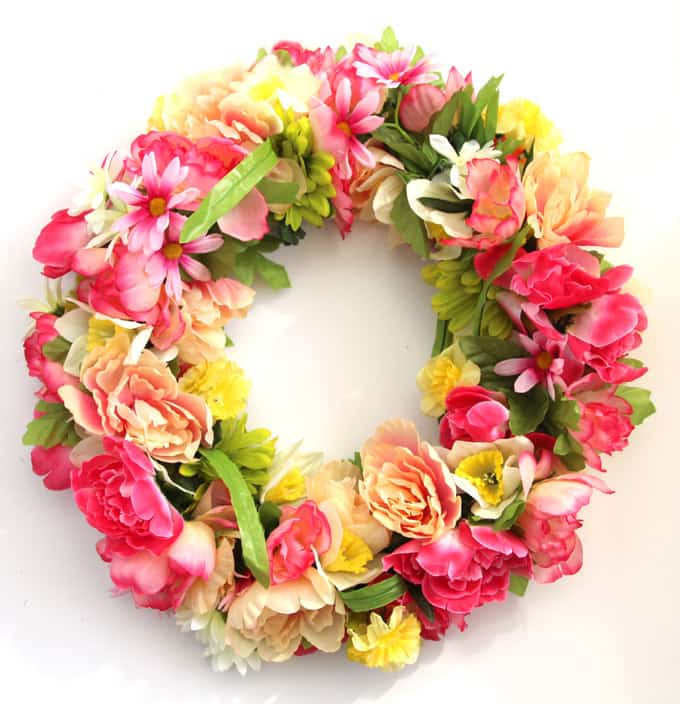 Make A $344 Flower Wreath For $15 - A Piece Of Rainbow