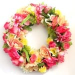 How to make a stunning $344 flower wreath for $15! The easiest and most fun way to make a beautiful wreath with surprising materials! - A Piece Of Rainbow Blog