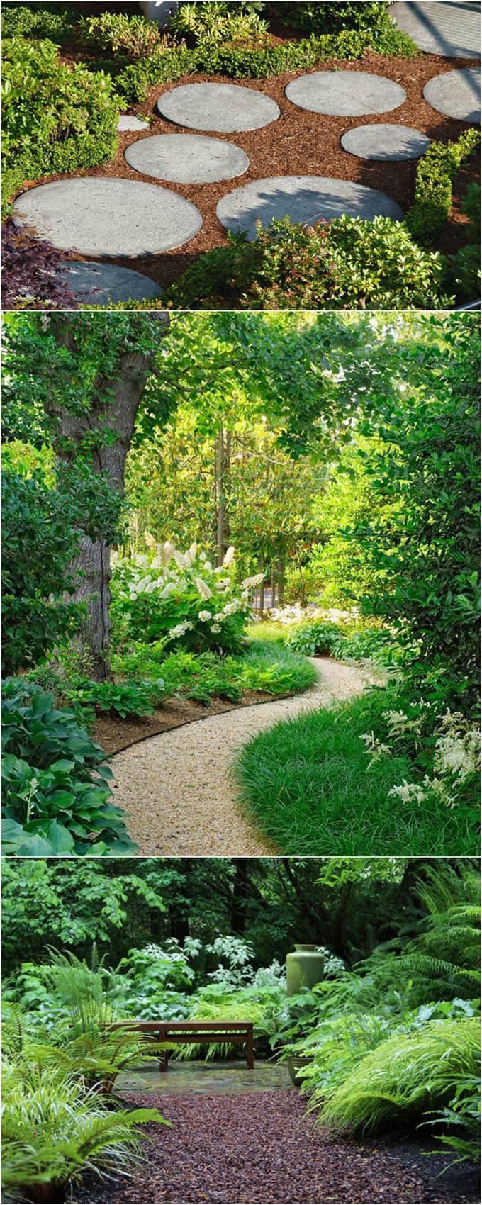 25 most beautiful diy garden path ideas a piece of rainbow. Black Bedroom Furniture Sets. Home Design Ideas