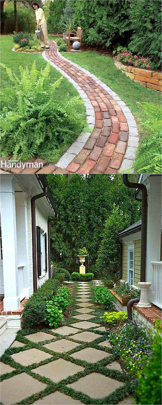 A Grassy Area Is Beautiful. It Is Not Suitable For Heavy Traffic Such As  Loaded Wheel Barrels. By Adding Attractive Pavers Such As Brick, Slate, ...