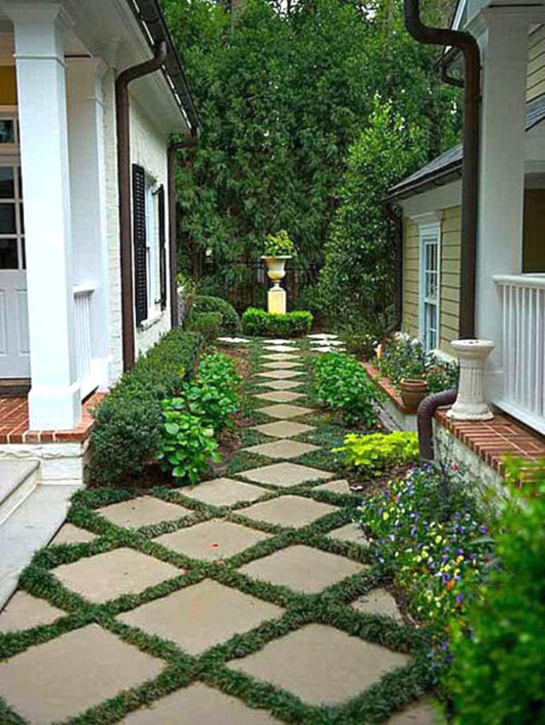 Pavers and Grass Garden Path ideas