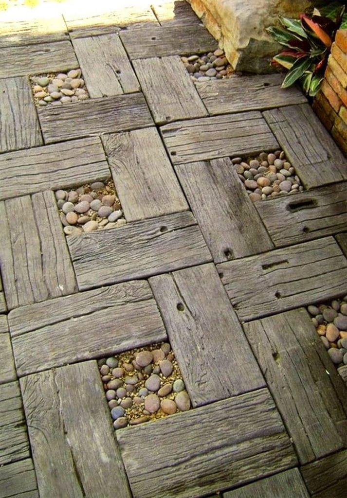 wood garden path designs