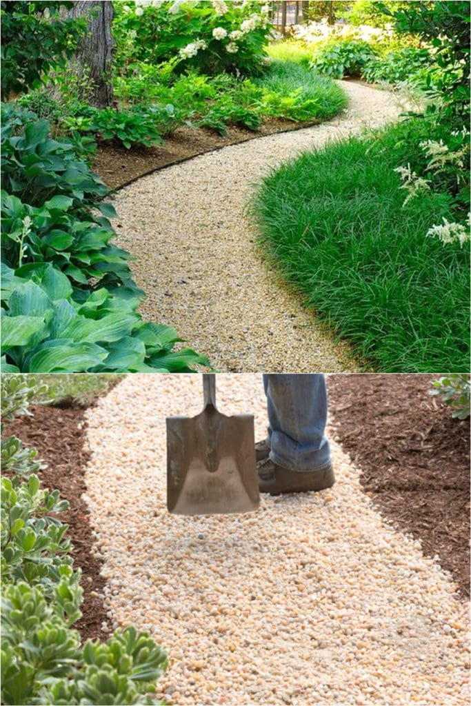 Easy DIY Gravel Garden Paths
