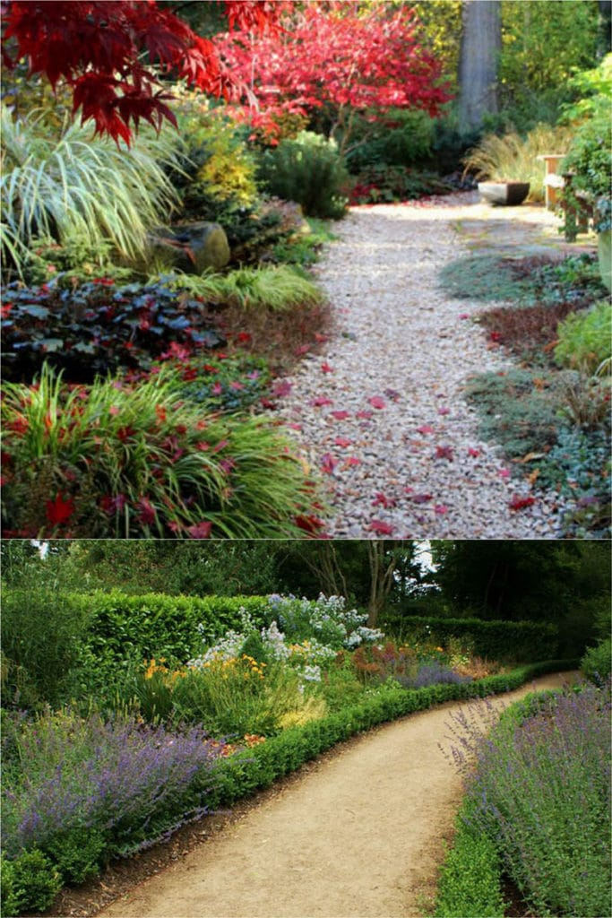 beautiful landscaping with Gravel and decomposed granite Garden Path