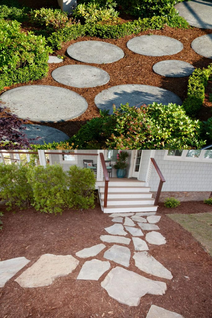 Stepping Stones as Garden Paths
