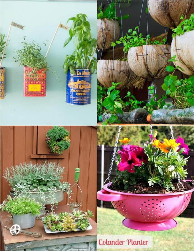 Cómo hacer girar cualquier cosa en un plantador: 32 Tutoriales creativos de los plantadores de DIY - un pedazo de arco iris