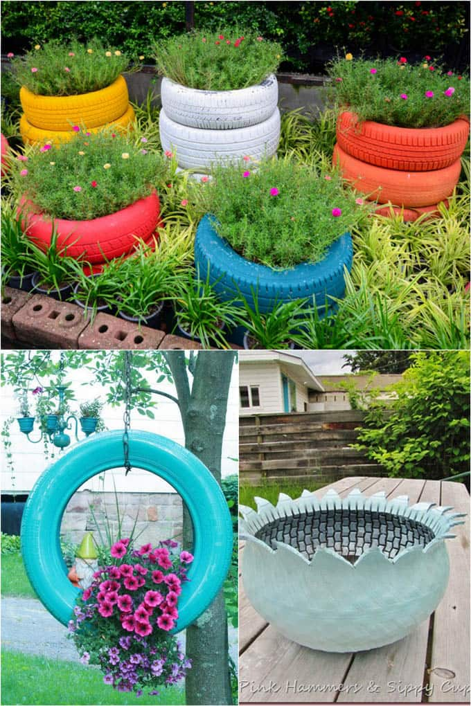 How to turn anything into a planter 32 creative diy for Flower pot made by waste material