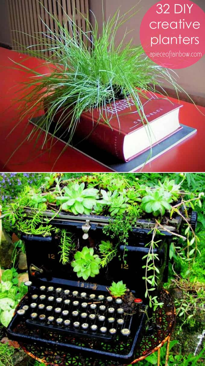 How To Turn Anything Into A Planter : 32 Creative DIY Planter ...