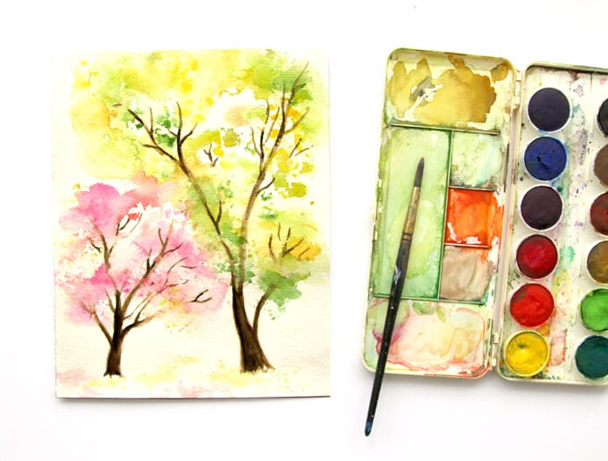 spring-tree-watercolor-painting-apieceofrainbow (1)