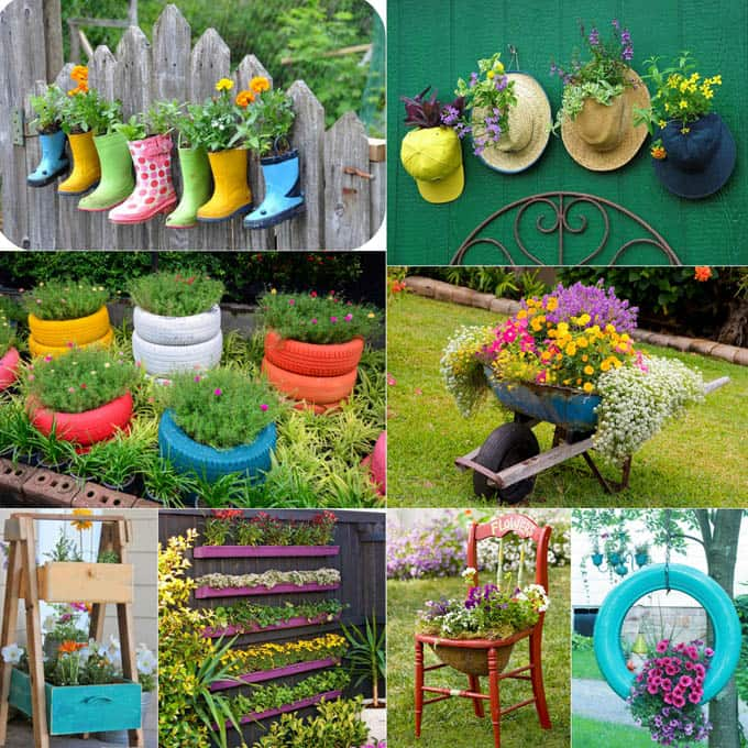 32 most creative and unique DIY planter  from from up-cycled and re-purposed objects and materials!