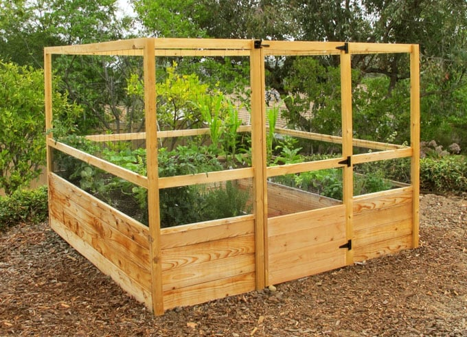 20 amazing diy raised bed gardens a piece of rainbow - Elevated garden bed designs ...