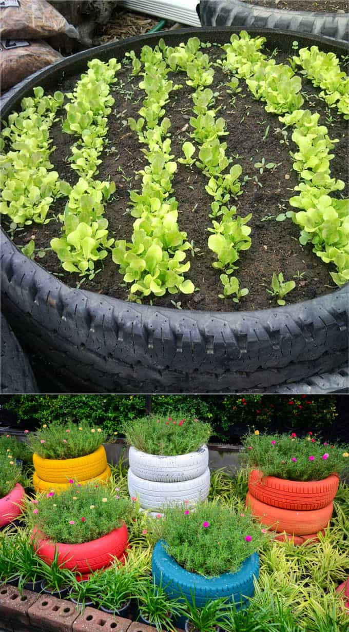U-shape cinder block garden bed designs