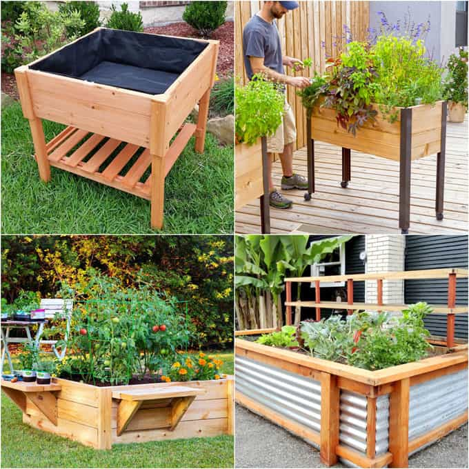 28 most amazing raised bed gardens, with different materials, heights, and many creative variations. Great tutorials and ideas on how to build raised beds ! A Piece of Rainbow