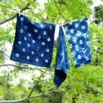 Detailed tutorial on 3 beautiful tie dye techniques to create your own glorious Indigo Shibori textiles for home decor or fashion projects! - A Piece Of Rainbow
