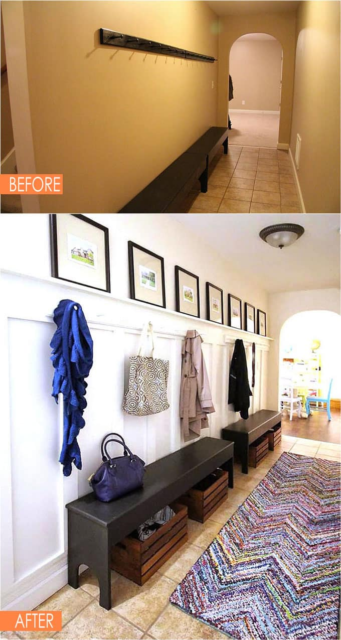 21 Amazing Before After Entryway Makeovers A Piece Of