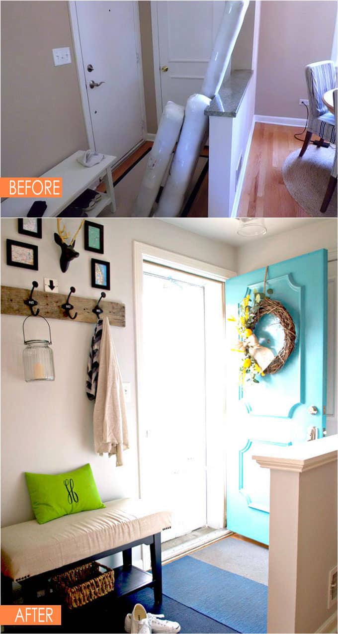 small entryway before and after