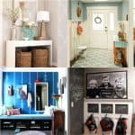 21 amazing DIY before after entryway makeovers! These dramatic transformations will inspire you to create a beautiful, functional and welcoming entryway! - A Piece Of Rainbow
