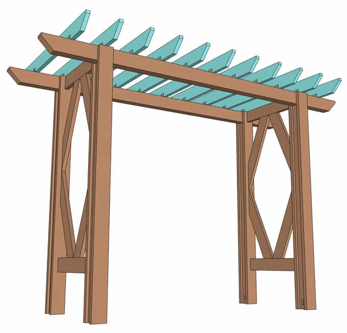 DIY Grape Arbor ( Simple DIY Pergola ): Free Building Plan - A Piece ...